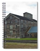 Historical Barron Wheat Flour Mill In Oakesdale Wa Spiral Notebook