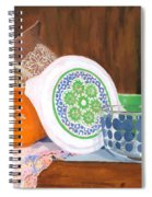 History Of Pyrex Spiral Notebook