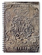 History Of Usa: Stamp Act Spiral Notebook
