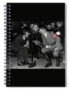 Hitler Conferring With Joseph Goebbels Circa 1936 Color Added 2016 Spiral Notebook