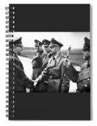 Hitler Shaking Hands With Heinrich Himmler Unknown Date Or Location Spiral Notebook