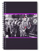 Hitler With Nazi Entourage Hess And Himmler In 2nd Row Circa 1935 Color Added 2016 Spiral Notebook
