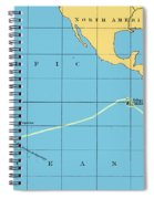 H.m.s. Beagle Course To Galapagos Spiral Notebook