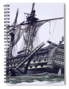 Hms Victory After The Battle Of Trafalgar, With Mizzen Topmast Shot Away Spiral Notebook