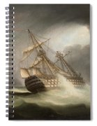 H.m.s. Victory In Full Sail And In A Squall Spiral Notebook