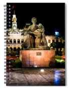 Ho Chi Minh City Hall At Night Spiral Notebook