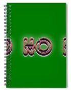 Ho Ho Ho Christmas Tee Spiral Notebook