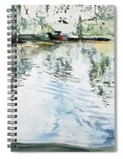 Hobby House And Ripples Spiral Notebook