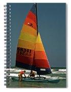 Hobie Cat In Surf Spiral Notebook