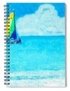 Hobie Sailing Off Lido Beach Coast Spiral Notebook