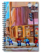 Hockey At Beautys Deli Spiral Notebook