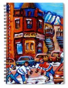 Hockey At Fairmount Bagel Spiral Notebook