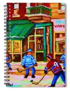 Hockey At Mehadrins Spiral Notebook