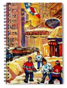 Hockey Fever Hits Montreal Bigtime Spiral Notebook