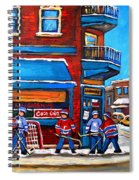 Hockey Game At Wilensky's Spiral Notebook
