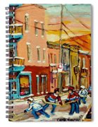 Hockey Game Fairmount And Clark Wilensky's Diner Spiral Notebook