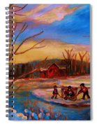Hockey Game On Frozen Pond Spiral Notebook