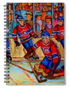 Hockey  Hero Spiral Notebook