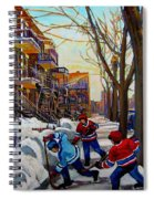 Hockey On De Bullion  Spiral Notebook