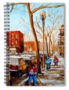 Hockey On St Urbain Street Spiral Notebook