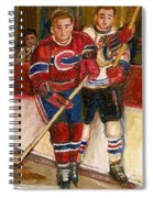 Hockey Stars At The Forum Spiral Notebook