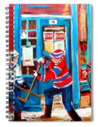Hockey Sticks In Action Spiral Notebook