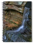 Hocking Hills State Park Small Waterfall Spiral Notebook