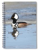 Hodded Merganser With Reflection Spiral Notebook