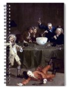 Hogarth: Midnight, 1731 Spiral Notebook