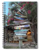 Hogfish Bar And Grill Directional Sign Spiral Notebook