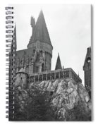 Hogwarts Castle Black And White Spiral Notebook