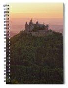 Hohenzollern Castle At Sunset Spiral Notebook