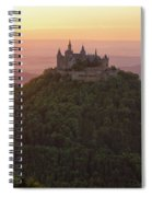 Hohenzollern Castle At Sunset Spiral Notebook