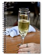 Holding Champagne Glass In Hand Spiral Notebook