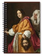 Holding The Head Of Holofernes Spiral Notebook