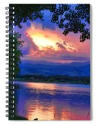 Hole In The Sky Sunset Spiral Notebook