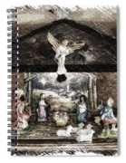 Holiday Christmas Manger Pa 01 Spiral Notebook