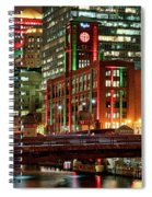 Holiday Colors Along Chicago River Spiral Notebook