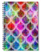 Holiday Colors - Christmas Pattern Spiral Notebook