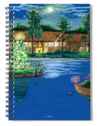 Holiday Delivery At Whisper Lake  Spiral Notebook