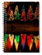 Holiday Evergreen Reflections Spiral Notebook