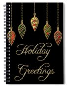 Holiday Greetings Merry Christmas Spiral Notebook