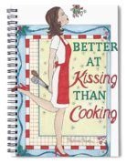 Holiday Kissing Cooking Spiral Notebook