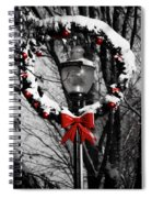 Holiday Lamp Post Spiral Notebook
