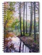 Holiday Park Lake At Dusk Spiral Notebook