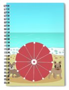 Holiday Romance Behind The Red Umbrella Spiral Notebook