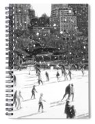 Holiday Skaters Spiral Notebook