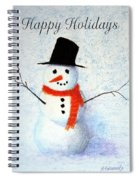 Holiday Snowman Spiral Notebook