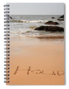 Holiday Written In The Sand Spiral Notebook