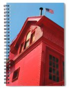 Holland Harbor Light From The Bottom Up Spiral Notebook